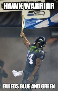 Hawk Warrior bleeds Blue and Green!! Go Lynch!!