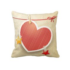 Paper heart, #Pillow by PinkHurricane