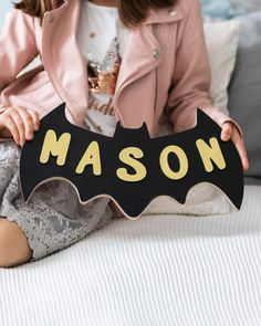 Batman Birthday Gift for Baby Boy Wooden Name Puzzle Batman Toy Toddler Montessori Puzzle Mother to Be Gift Baby Shower Batman Decor 1st Birthday Gifts, Baby Birthday, Birthday Wishes, Baby Shower Gifts, Baby Gifts, Name Puzzle, Montessori Toddler, Wooden Gifts, Learning Colors