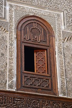 Window by Mike Prince, Medersa Attarine, Fez, Morocco