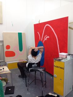 texturism:posture + gaze. lewis henderson in his studio.