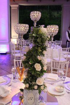 Candelabro de Cristales, Bling Wedding, Hotel Real Intercontinental