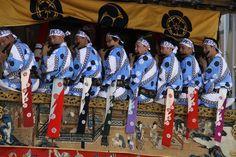 カラフルな手ぬぐいを腰に。 祇園祭 京都 kyoto gion festival