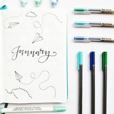 my theme for january is origami transportation (planes, boats, cars) because you create where you go! super cheesy but… - Bullet Journal Paper, Bullet Journal Month, Bullet Journal Notes, Bullet Journal Themes, Bullet Journal Spread, Bullet Journal Inspiration, Journal Layout, My Journal, Deco Tumblr