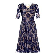 christy dress in french navy lace by nancy mac | notonthehighstreet.com