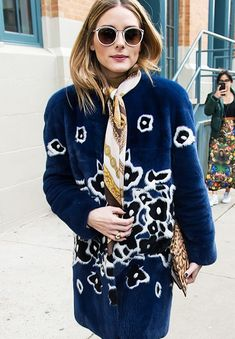 Olivia Palermo Style: Print clash within a careful palette