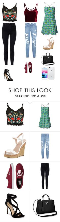 """""""Fun Casual Outfits 🙌💓"""" by santana15 ❤ liked on Polyvore featuring Matthew Williamson, Charles by Charles David, Vans, J Brand and Imagine by Vince Camuto"""
