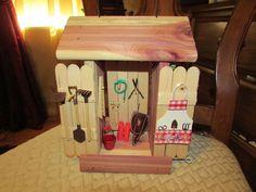fairy garden tool and garden shed, crafts, gardening