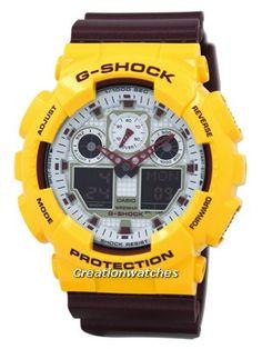 8809c92f5fe Casio G-Shock Analog Digital GA-100CS-9A GA100CS-9A Mens Watch
