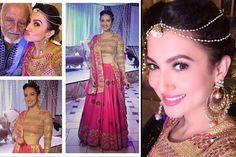 Nigaar Khan wedding gauhar khan look Bollywood Lehenga, Lehenga Choli, Bollywood Fashion, Bollywood Style, Anarkali, Sarees, Wedding Looks, Wedding Pics, Wedding Ideas