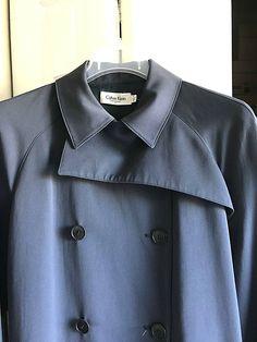 Kleidung & Accessoires Klug Calvin Klein Dark Grey Pinstripe Blazer Size 12 Jacken, Mäntel & Westen