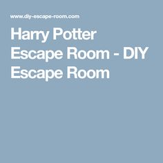 Harry Potter Escape Room - DIY Escape Room