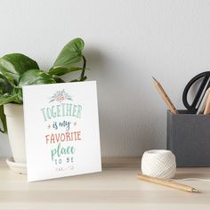 """Buy """"Together is my Favorite Place to be"""" Art Boards #redbubble #quotes #artboards #sayings #motivation"""