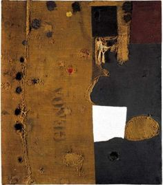 Artworks of Alberto Burri (Italian, 1915 - Mixed Media Collage, Collage Art, Abstract Expressionism, Abstract Art, Abstract Paintings, Collages, Giuseppe Penone, Alberto Burri, Basquiat