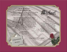 Graduation Name and Poetry Keepsake | Creationsbyfrannie - Print on ArtFire