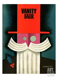Illustration by Miguel Covarrubias December Vanity Fair Cover. Vanity Fair Magazine, Magazine Art, Magazine Covers, Herbert Bayer, Josef Albers, Frida And Diego, Art Deco Vanity, Polish Posters, Affordable Wall Art