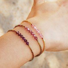 8d31fc9d7a8a Swarovski Gold Beaded Bracelet