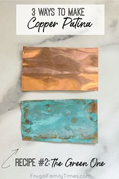 Wondering how to turn copper green? I've got the copper patina solution recipes - Diy and crafts interests Aged Copper, Green Copper, Budget Crafts, Diy And Crafts, Patina Metal, How To Patina Copper, Patina Paint, Old Basement, Basement Laundry