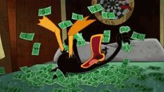 Bugs Bunny and Daffy Duck Money Looney Tunes Cartoons, Old Cartoons, Classic Cartoons, Daffy Duck, Bugs Bunny, Anime Angel, Cartoon Memes, Cartoon Characters, Anime Wolf
