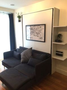 Small Space Solution: A DIY Murphy Bed Made With IKEA Parts