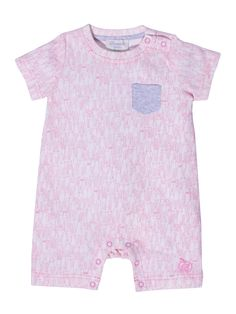 Organic cotton bunny print playsuit 'TINKER' by Bonnie Baby