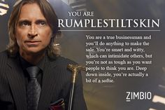 Rumpelstiltskin - Which 'Once Upon a Time' Character Are You? - Zimbio