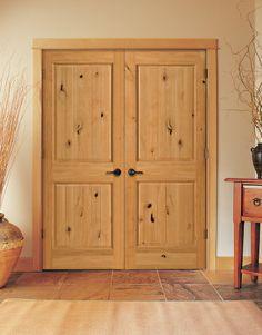Two Panel Double Interior Doors By HomeStory Doors