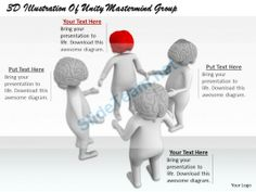 1813 3D Illustration of Unity Mastermind Group Ppt Graphics Icons Powerpoint #Powerpoint #Templates #Infographics