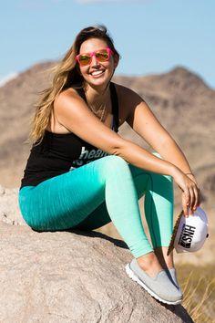 *Teal Ombre Leggings – Healthy is the new Skinny