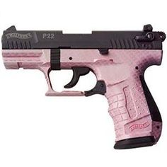 Walther Pistol Pink Carbon Fiber def thinking about getting this one Pink Hand Guns, Pink Guns, Walther P22, 22lr, Pink Camo, Purple, Lilac, Guns And Ammo, Concealed Carry