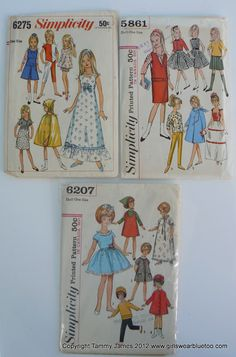 Vintage Sewing Patterns - Pinned from www.GirlsWearBlueToo.com