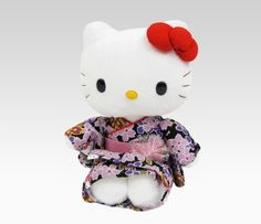 "Hello Kitty 10"" Cherry Blossom Collectors Doll: Black"