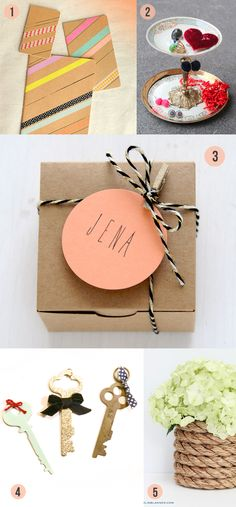 A Roundup Of Five 5 Minute Diys From Around The Web All Cute And Simple