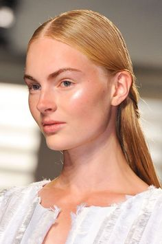 Pin for Later: The Eyebrows Have It All: Piercing, Coloring, Glossing, and Bleaching Thakoon New York Fashion Week Spring 2015 Don't forget to download our POPSUGAR Fashion Week app for the latest from Fashion Week.