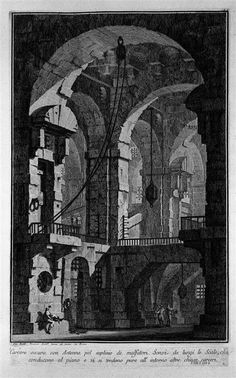 Antenna dark prison. - Giovanni Battista Piranesi - WikiPaintings.org
