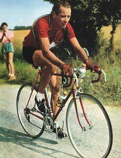 Tour de France 1951. Hugo Koblet (1925-1964), splendido alfiere degli anni d'oro del ciclismo svizzero