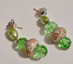 Cristal verde y plata