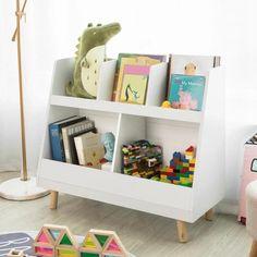 IN STOCK: best prices on SoBuy Children Kids Bookcase Book Shelf Storage Display Rack Organizer - choose between 0 Children's storage Childrens Bookcase, Bookshelves Kids, Toy Shelves, Bookcase Storage, Kids Storage, Storage Spaces, Book Storage, Toy Bin Organizer, Ladder Shelf Diy