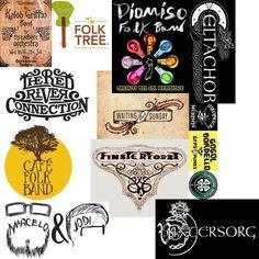 Morgue file for folk band logo design