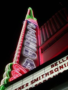 Amazing neon marquis, Alameda Theater, San Antonio Texas - Check out our podcast https://www.facebook.com/ScreenWolf and https://twitter.com/screen_wolf