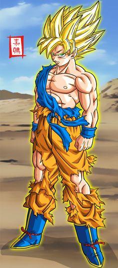Goku SSJ Kai by SnaKou.deviantart.com on @deviantART