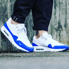 the latest aec73 48286 Nike Mens  Air Max 1 Ultra Essential White Platinum Racer Blue Trainers - Landau  Store - Product Review - April 20, 2019