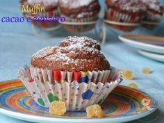 Puffin in cucina e non solo...: Muffin con cacao e zenzero candito per una colazio...