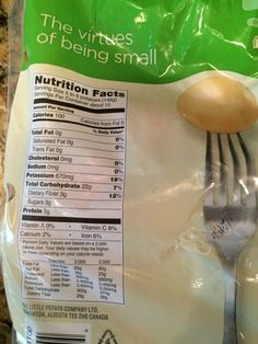 Creamer potato nutrition facts  ________________________________  5-6 potatoes = 100 Calories, 22 carbs, 3 sugars, 3 protein ________________________________  10-12 = 200 cal, 44 carbs, 6 sugar, 6 protein Potato Nutrition, 100 Calories, Trans Fat, Saturated Fat, Serving Size, Cholesterol, Protein, Potatoes, Facts