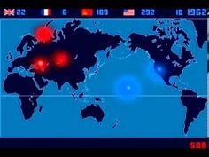 Um Lapso de Tempo das Detonações Nucleares entre 1945 e 1998 por Isao Ha...