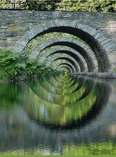 The magic mirror - digital illusions by Laura Williams - reflections / bridge / canals