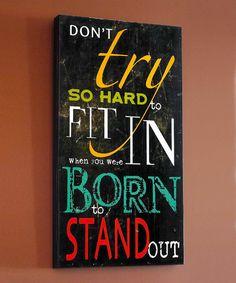 Another great find on #zulily! 'Born' Wall Art #zulilyfinds