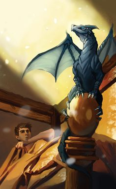 The How To Train Your Dragon BOOK SERIES, on which the first movie was loosely based, is a very different animal from the movies. Dragonmarkers At Rest Fantasy Creatures, Mythical Creatures, Draco, Eragon Saphira, Inheritance Cycle, Christopher Paolini, Dragon Art, Dragon Book, Dragon Statue