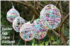 Easter decoration. Easy for the kids to make. #Easter #Garland