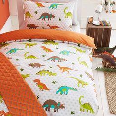 Prehistoric dinosaur themed toddler duvet